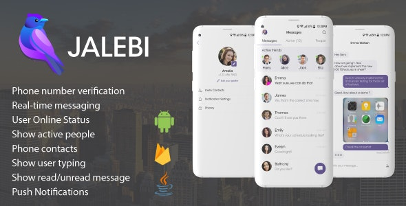 Jalebi - Android Firebase Real-time Chat Messenger by qboxus