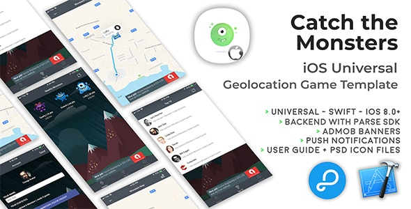 Catch The Monsters | iOS Universal Geolocation Game Template (Swift