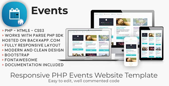 Events | PHP Event Sharing Web Template