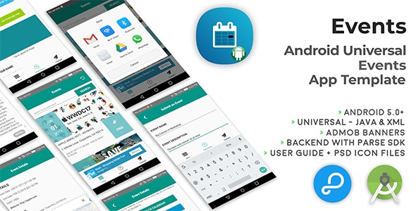 Events | Android Universal Events App Template by cubycode | CodeCanyon