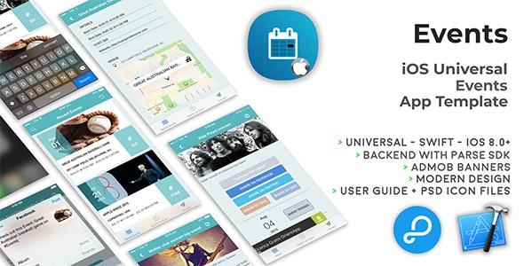 Events | iOS Universal Events App Template (Swift) - CodeCanyon Item for Sale