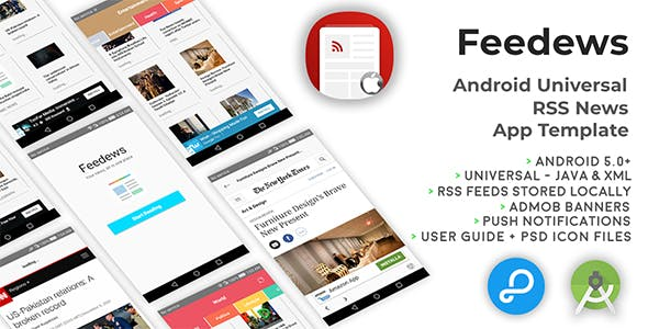 Feedews | Android Universal RSS News App Template