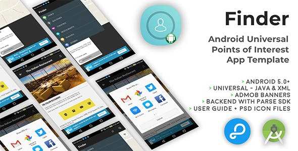 Finder | Android Universal Points of Interest App Template
