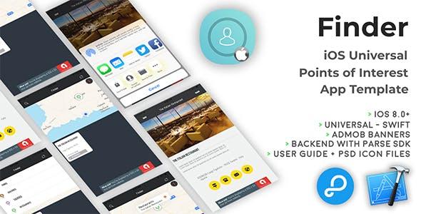 Finder   iOS Universal Points of Interest App (Swift)