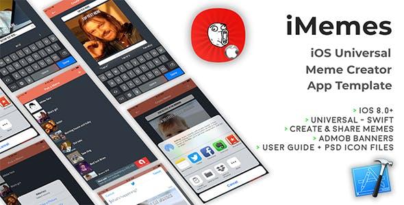 iMemes | iOS Universal Meme Creator App Template (Swift)