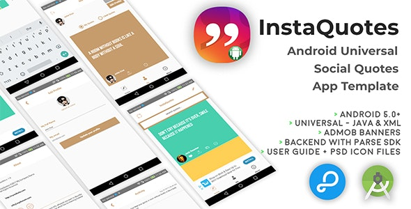 InstaQuotes | Android Universal Social Quotes App Template - CodeCanyon Item for Sale