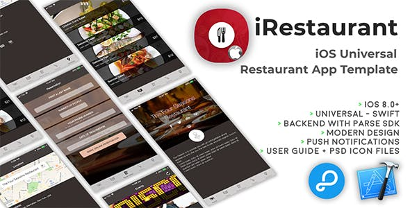 iRestaurant | iOS Universal Restaurant App Template (Swift)