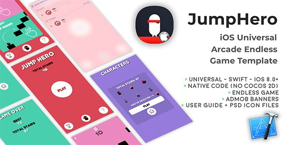 JumpHero | iOS Universal Game Template (Swift)
