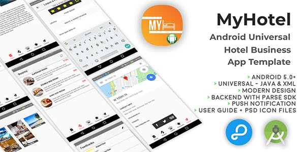 MyHotel | Android Universal Hotel App Template