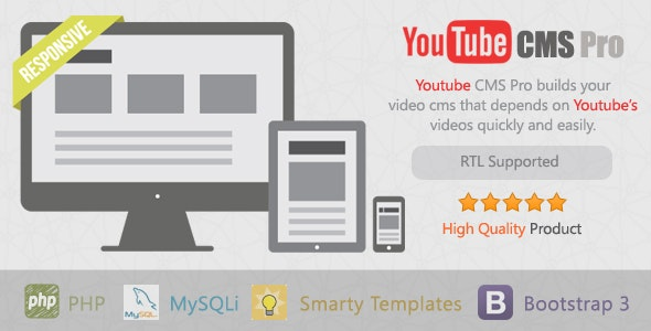 YouTube CMS Pro Version - CodeCanyon Item for Sale