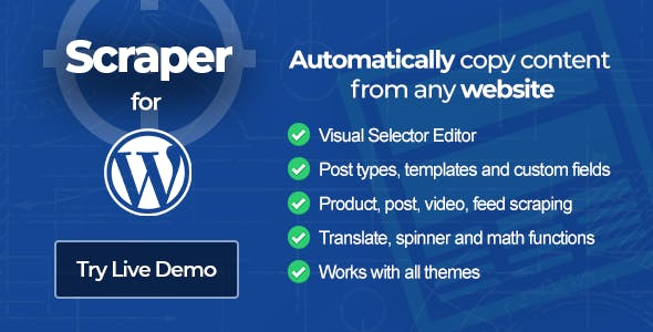 Scraper - Content Crawler Plugin for Wordpress