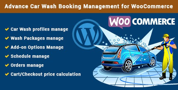 Advance Car Wash Booking Management for WooCommerce