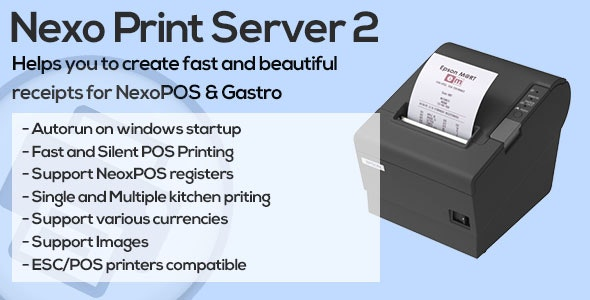 Nexo Print Server by blair_jersyer | CodeCanyon