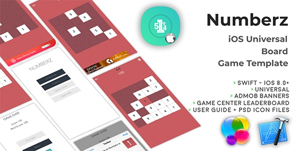 Numberz | iOS Universal Board Game Template (Swift) - CodeCanyon Item for Sale