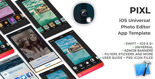PIXL | iOS Universal Photo Editor App Template (Obj-C)