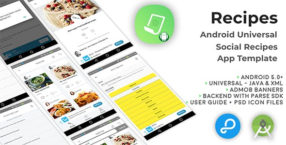 Recipes | Android Universal Social Recipes App Template