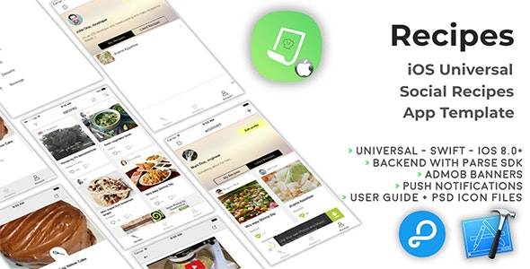 Recipes | iOS Universal Social Recipes App Template (Swift) - CodeCanyon Item for Sale