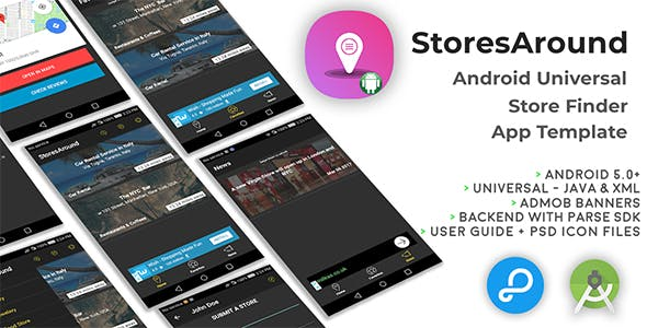 StoresAround | Android Universal Store Finder App Template