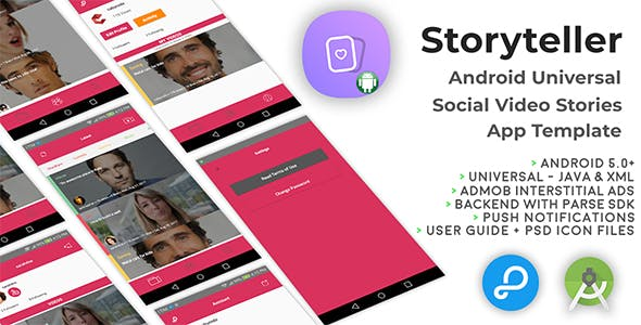 Storyteller | Android Universal Video Sharing App Template