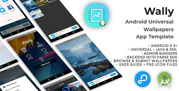 Wally | Android Universal Wallpapers App Template