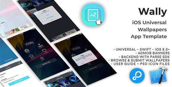 Wally | iOS Universal Wallpapers App Template (Swift)