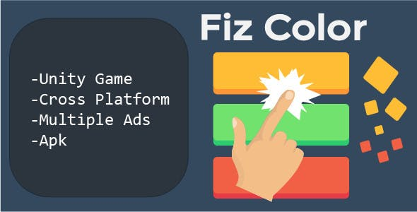Fiz Color Unity Game (Multiple ads , admob chartboost etc)