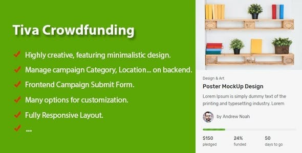 Tiva Crowdfunding - WordPress Crowdfunding System