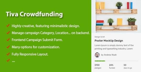 Tiva Crowdfunding - Wordpress Crowdfunding System - CodeCanyon Item for Sale