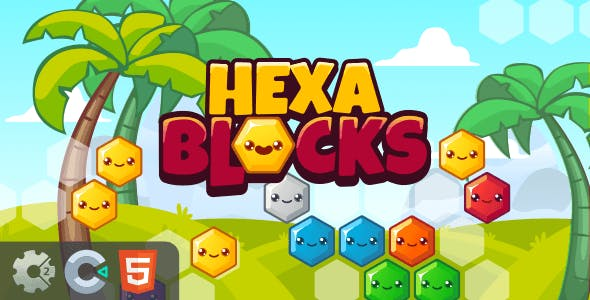 Hexa Blocks - HTML5 Puzzle Game (Construct 2/3)
