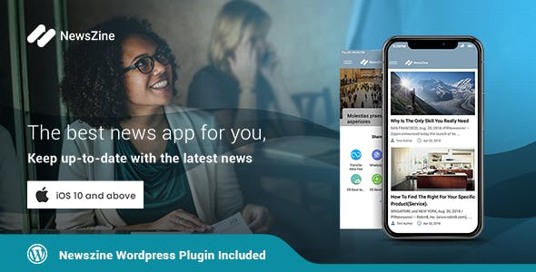 NewsZine - iOS | A complete News / Magazine App | Wordpress Plugin Included