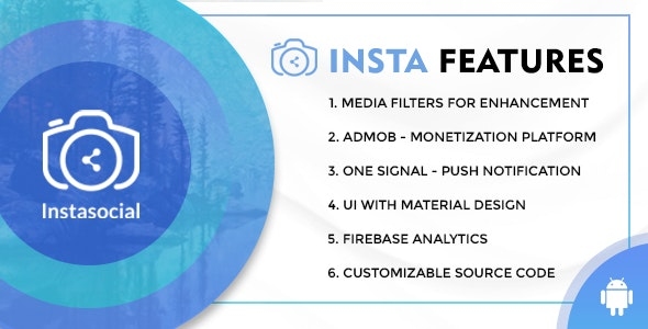 Instasocial - An Instagram like social media app with creative filters and editing tools - CodeCanyon Item for Sale