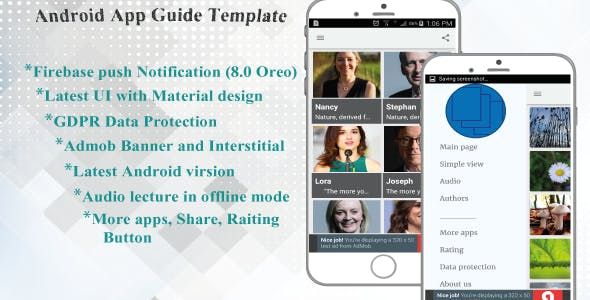 Android App Guide Template With Admob Interstitial Ads and GDPR