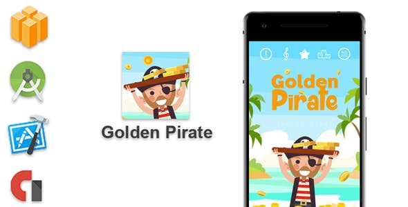 Golden Pirate - Buildbox Game + Android Studio + Xcode