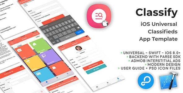 Classify | iOS Universal Classifieds App Template (Swift)
