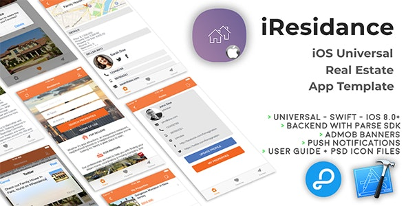 iResidence | iOS Universal Real Estate App Template (Swift) - CodeCanyon Item for Sale