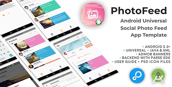 Photofeed | Android Universal Social Picture feeds App Template - CodeCanyon Item for Sale