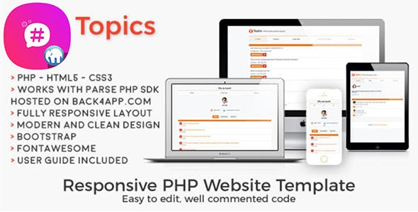 Topics | PHP Social Discussion Web Template