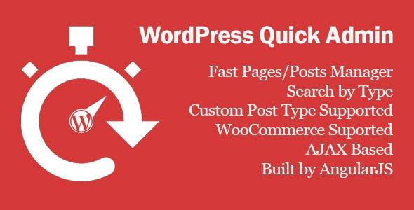 WordPress Quick Admin