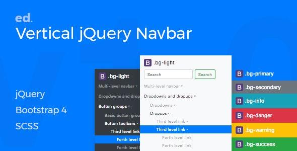 ed Navbar v1.0 -  Customisable Multi-Level Vertical jQuery Navbar for Bootstrap 4 - CodeCanyon Item for Sale
