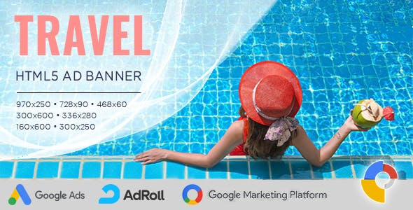 Travel Banner Ad Templates – HTML5 Animated GWD