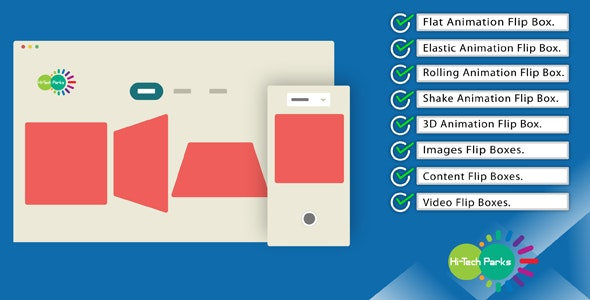 Animated CSS Flip Boxes - Bootstrap Responsive - CodeCanyon Item for Sale