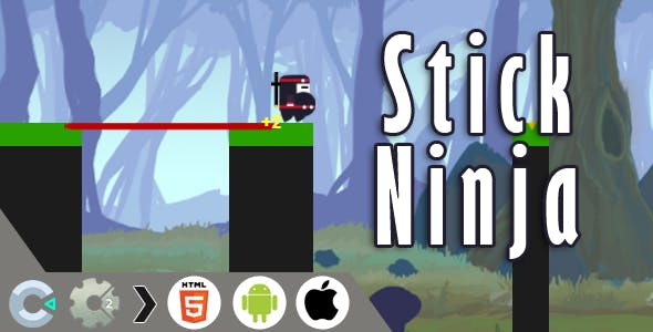 Stick Ninja HTML5 Game - CAPX file for Construct 2 & 3 )