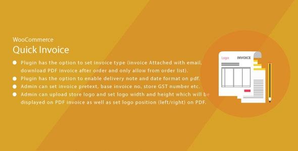 Wordpress WooCommerce Quick Invoice PDF - CodeCanyon Item for Sale