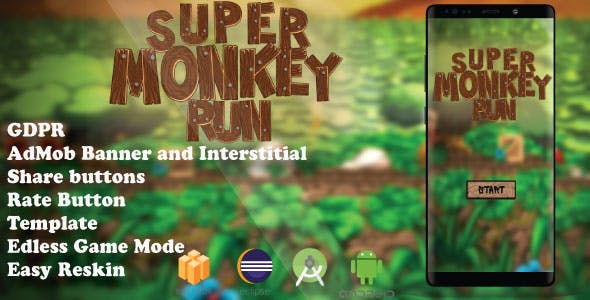 Monkey Run ( Android Studio + Eclipse + Admob + Bbdoc )