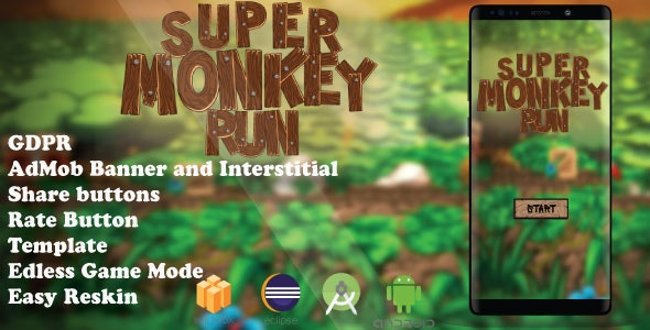 Monkey Run ( Android Studio + Eclipse + Admob + Bbdoc ) - CodeCanyon Item for Sale