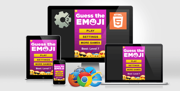 Guess the Emoji - HTML5 Quiz Game