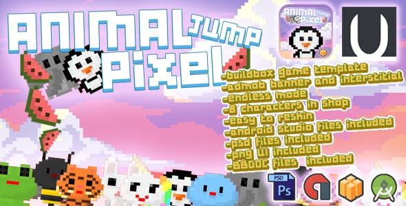 Animal Jump Pixel + Admob (BBDOC+AndroidStudio+PSD)