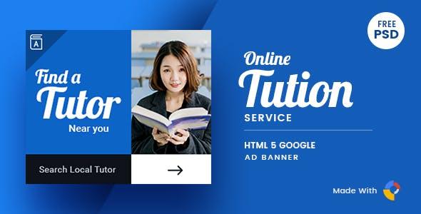 Online Tutor | HTML Ad Banner 01