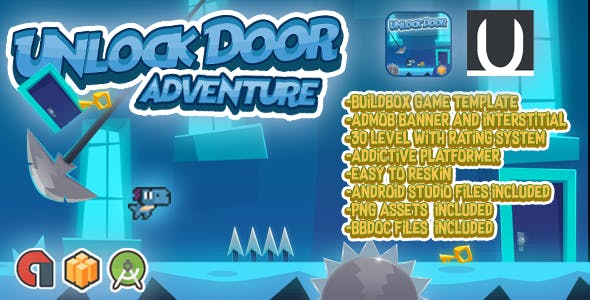 Unlock Doors Adventure + Admob (BBDOC+Android Studio+Assets)