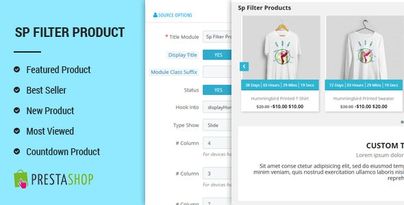 SP Filter Product - Advanced Filters PrestaShop 1.7 Module - CodeCanyon Item for Sale